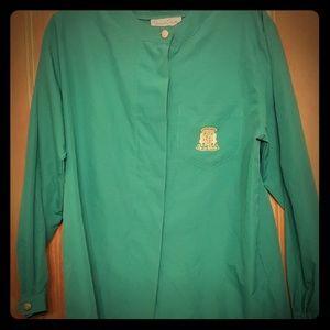 Vintage Oscar de la Renta Turquoise Dress Shirt